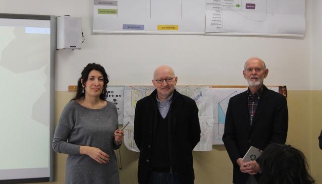 Due studiosi di fama mondiale in visita alla scuola Carovana